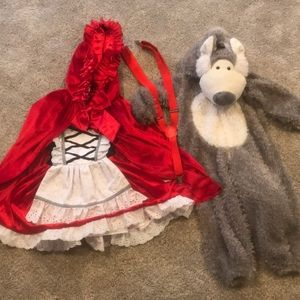 Little red riding hood 4t. wolf kids costume 18m-2